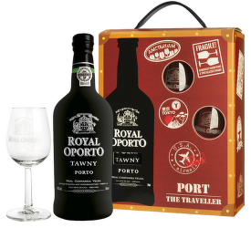 Royal Oporto Tawny Traveller box + 2 sklenice