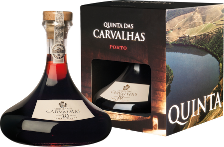 Quinta das Carvalhas 10 Years Old, karafa + box